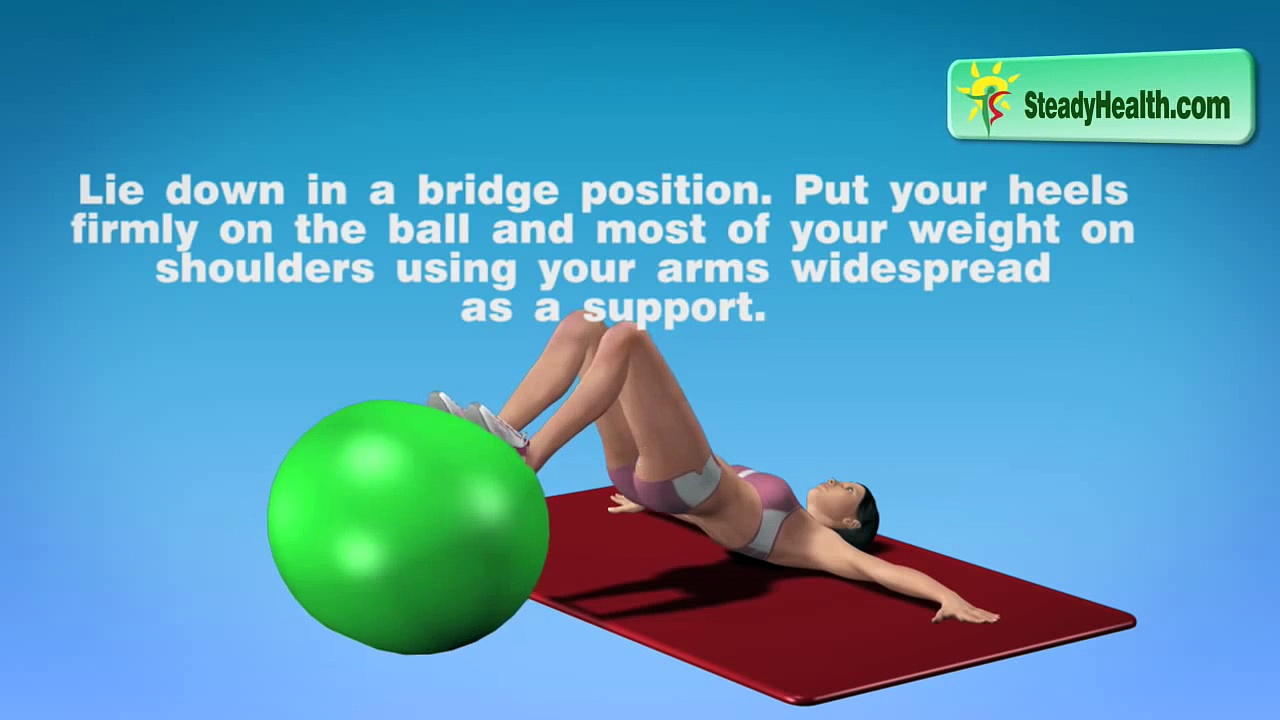 Butt Exercise for Men and Women: Saggy Buttocks and Thigh Exercise on a Fitness Ball