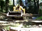 Tree Wood Chipper and Tree Removal with Ace trees chipper and bobcat
