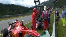 Formule 1 : violent accrochage entre Fernando Alonso et Kimi Raikkonen _ G.P. Austria - Red Bull Ring 2015 (HD)