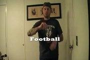 ASL football joke, abt the skinny deaf boy