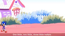 Kids For Sonic Ten Little Indians | Popular English Nursery Rhymes | 3D Ten Little Indian Cartoon