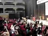 APU graduation ceremony - 'hat throwing'