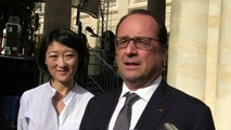 Fête de la musique: apparition surprise de François Hollande au Palais-Royal, à Paris