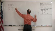 Algebra - Solving Linear Equations by using the Gauss-Jordan Elimination Method 2/2