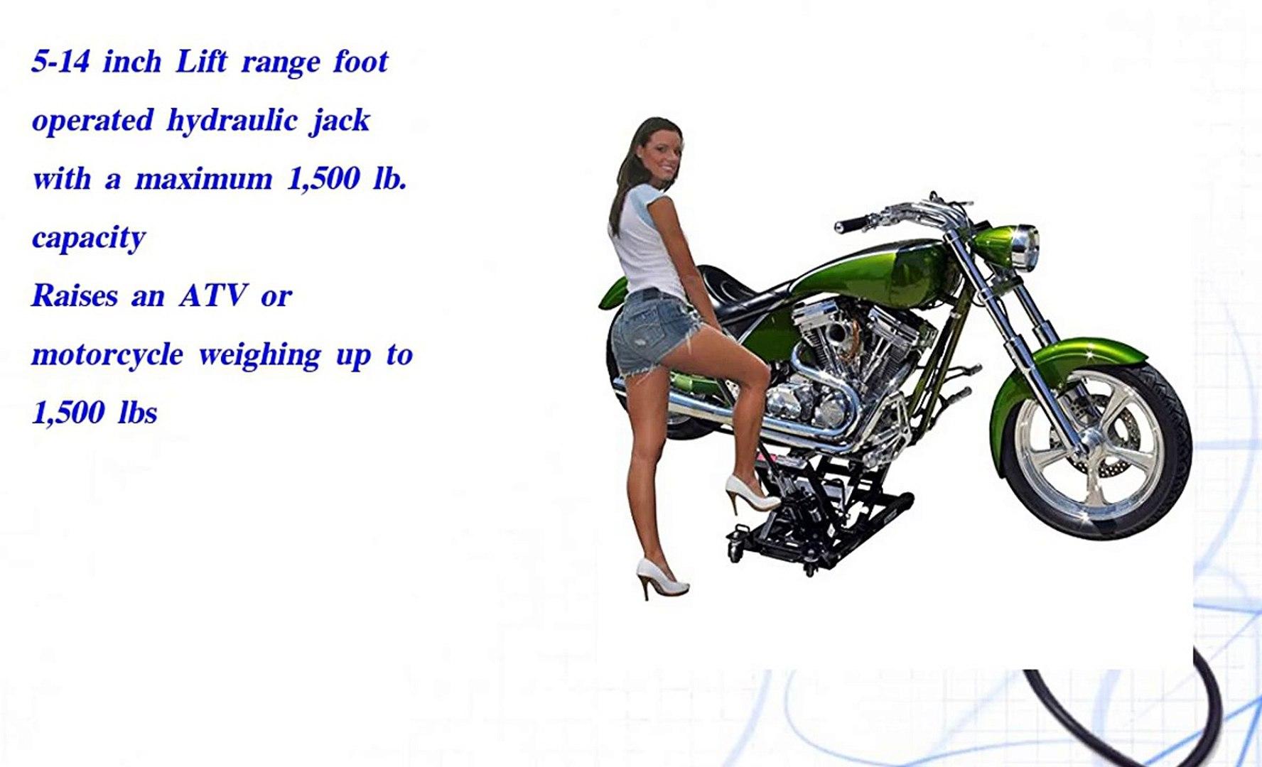 Hydraulic Motorcycle and ATV Lift Jack 1 500 lb  Capacity