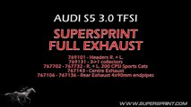 Audi S5 V6 3.0TFSI 447 HP ! - Supersprint Full Exhaust - Acceleration Sound