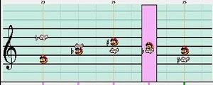 Mario Paint Composer - Tetris (Gameboy) Song C