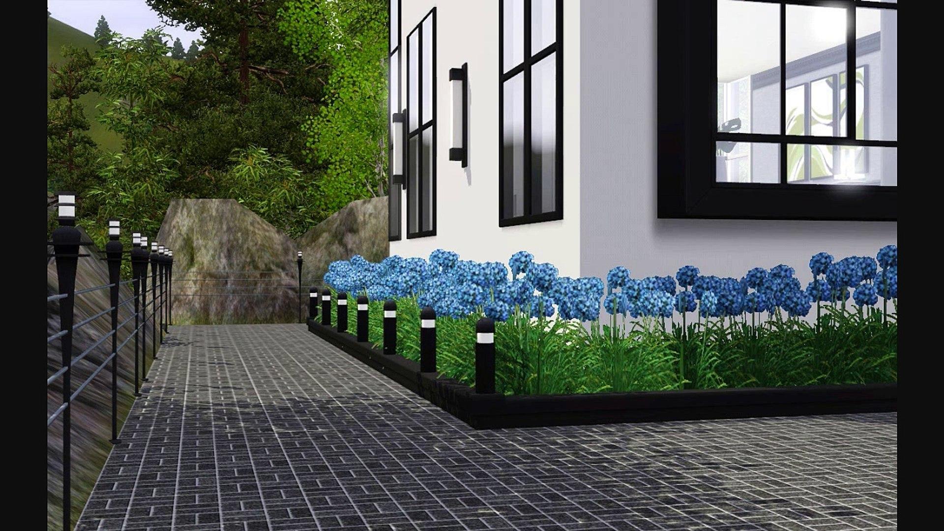 Bstones94 - The Ultra Modern Art-Deco Mountain Home - Sims 3 House Design