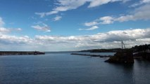 Paisaje: Playa y puerto de Candás Asturias hoy 4 Mayo
