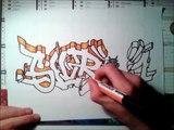 NEW 2012 graffiti sur papier SLVRONE / ABSTRACT by SPANE graff 34