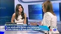 Entrevista a María Dolores de Cospedal en los desayunos de RTVE (2 de 3)