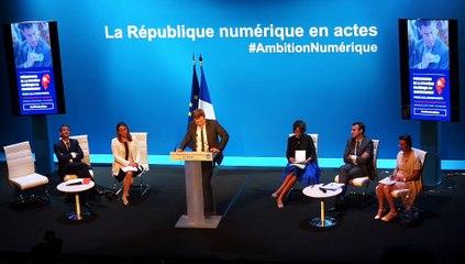 Remise du rapport Ambition Numérique par Benoit Thieulin et annonce de la stratégie numérique par Manuel Valls