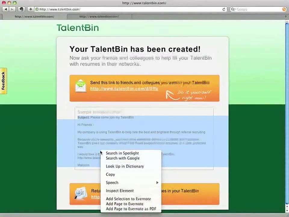 TalentBin Referral Recruiting Demo