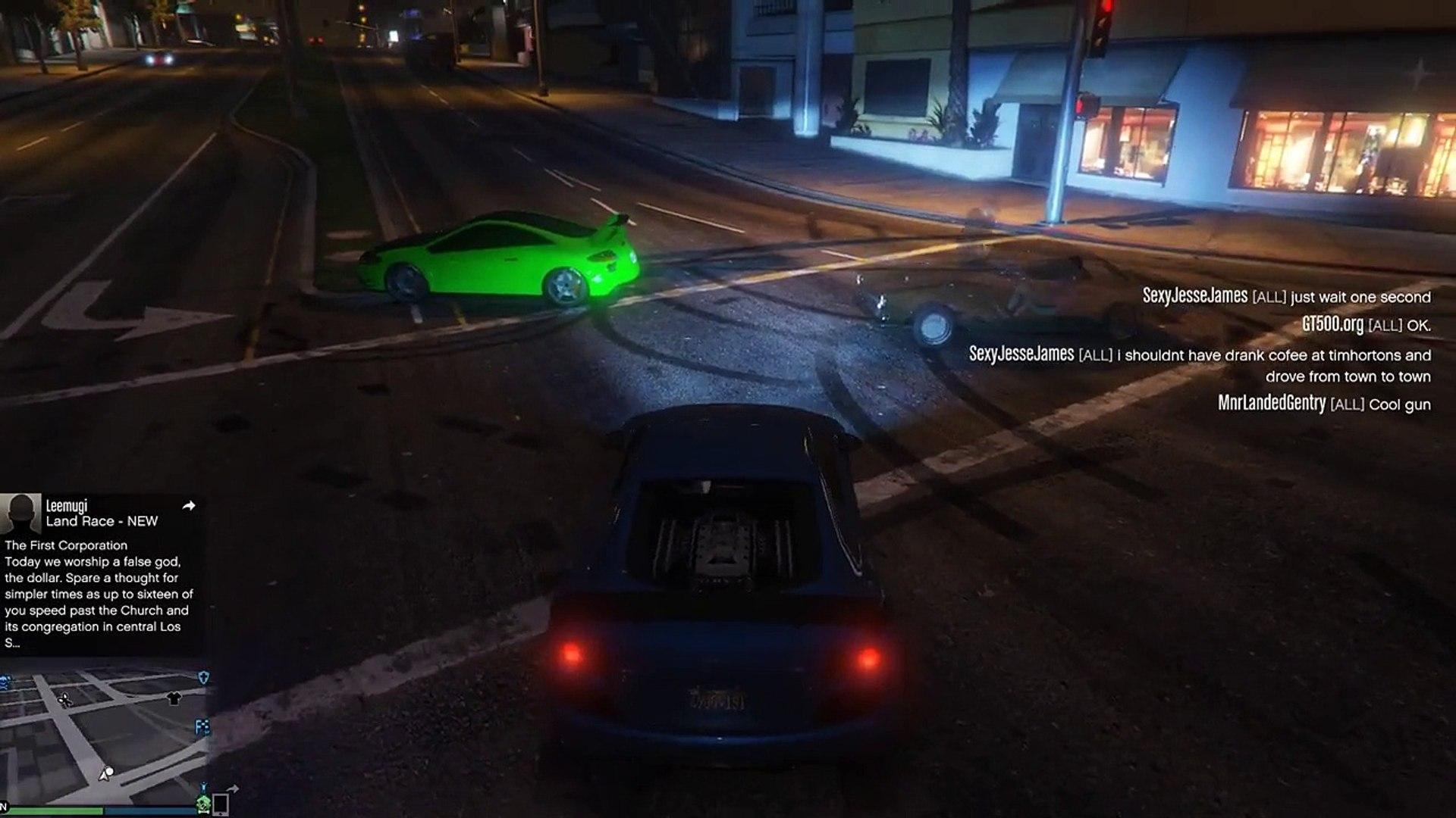 GTA V (PC) Online - Cheater/Script Kiddie Spawning Money, Super Jumping, Etc.