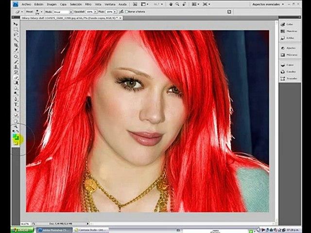 Cambiar color de cabello photoshop cs3