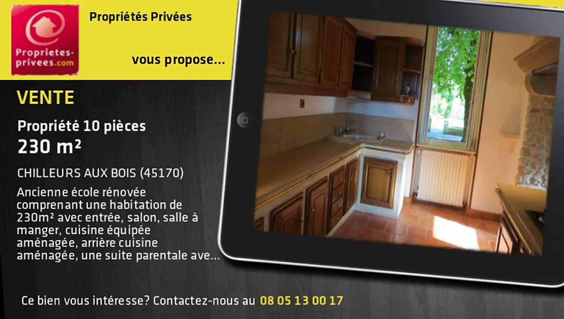 Cuisine Integree Dans Salon a vendre - propriété - chilleurs aux bois (45170) - 10 pièces - 230m²