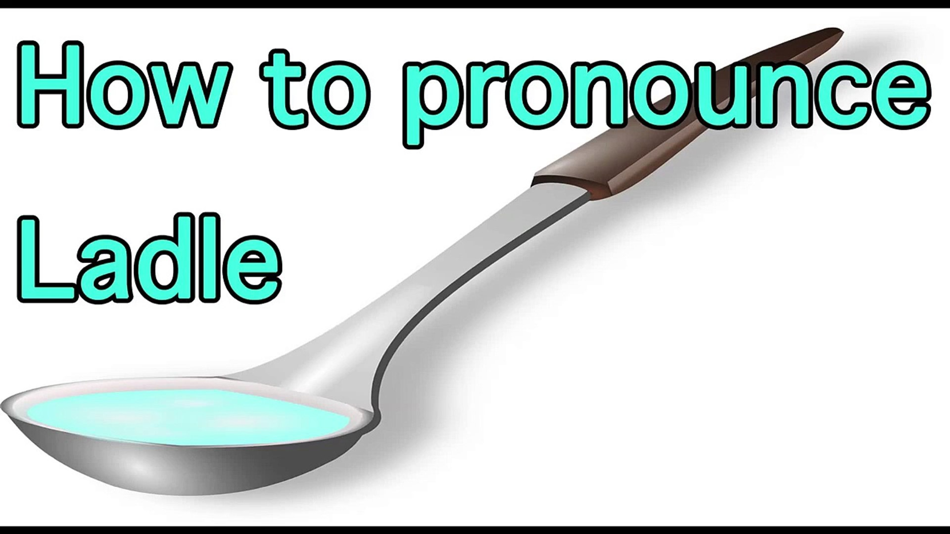 """How to pronounce """"Ladle"""" in Japanese おたま Cook Tool 料理道具"""