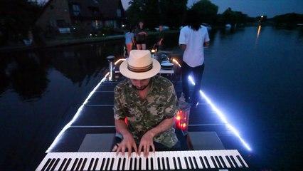 Aron Ottignon - Waterfalls Music Video Making of Boat Scene X Roland FA-06.