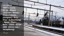 SBB CFF FFS Eurocity EC 52 (Milano Centrale - Basel SBB) in Thun (ETR 610) with Announcement
