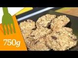 Recette de Biscuits aux flocons d'avoine, pépites de chocolat et bananes - 750 Grammes