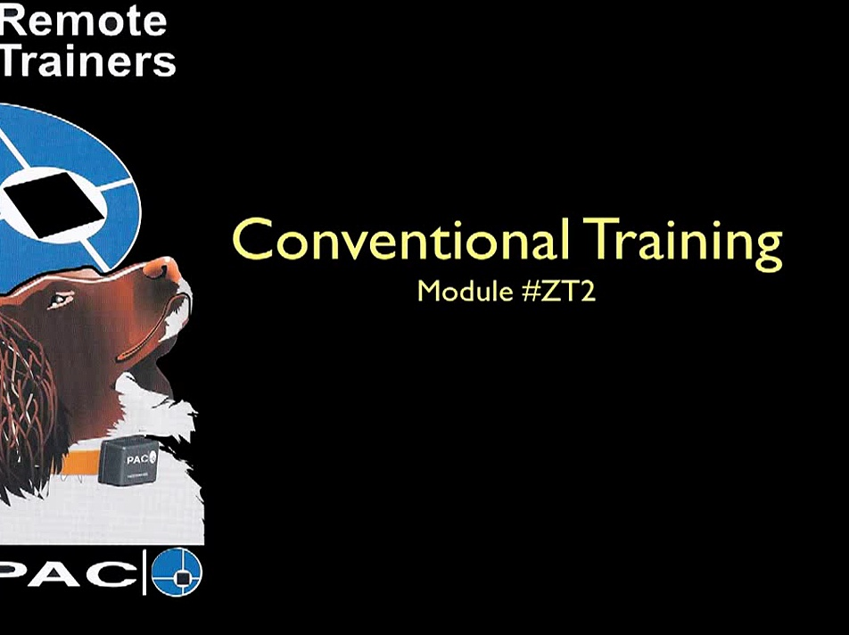 Conventional training  with Pac Products Remote Trainers