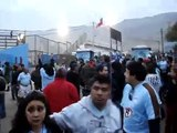 MUNICIPAL IQUIQUE:   Piedrazos de la  barra de everton a los de iquique a la salida