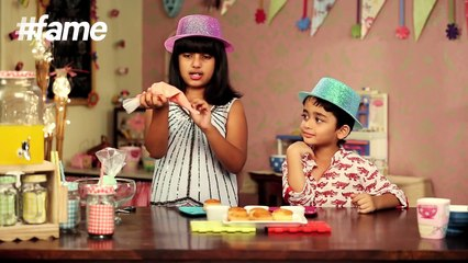 #fame food - How to Decorate Cupcakes With Icing | Kid's Kitchen | Karma And Vivaan