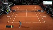 RAFAEL NADAL VS STANISLAS WAWRINKA tennis highlights Rome BNL d italia 2015 HD720p 50 fps new hd