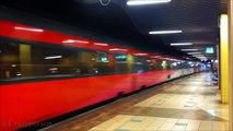 Treinen NS, Arriva, NMBS, DB op Rotterdam Blaak (over spoor 4)