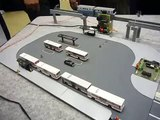 N-scale Faller car system operating many Japanese buses