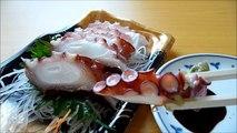 [ Japanese cuisine ] Eating Japanese food Washoku Sashimi  Tako Sashimi  蒸しだこ刺身