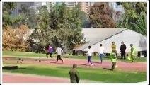 Course d'obstacles de dingue par des soldats chiliens