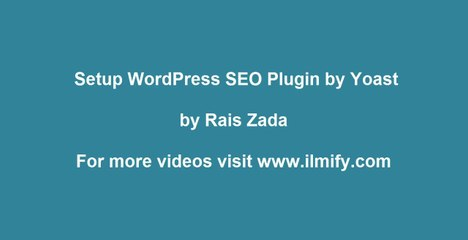 How to Setup WordPress SEO Plugin by Yoast - Urdu Tutorial