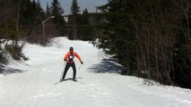 Improve your diagonal skate in cross country skiing
