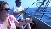 NJ Fluke Fishing- Watch Ken Beam & Sharon & Curt Ryder Fluke Fish in Atlantic Highlands NJ 7/20/2011