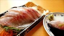 [ Japanese cuisine] Eating Japanese food Washoku Sashimi  IsakiChicken grunt Sashimi イサキ刺身