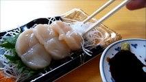 [ Japanese cuisine ] Eating Japanese food Washoku Sashimi  HotateJapanese scallop Sashimi  ホタテ刺身