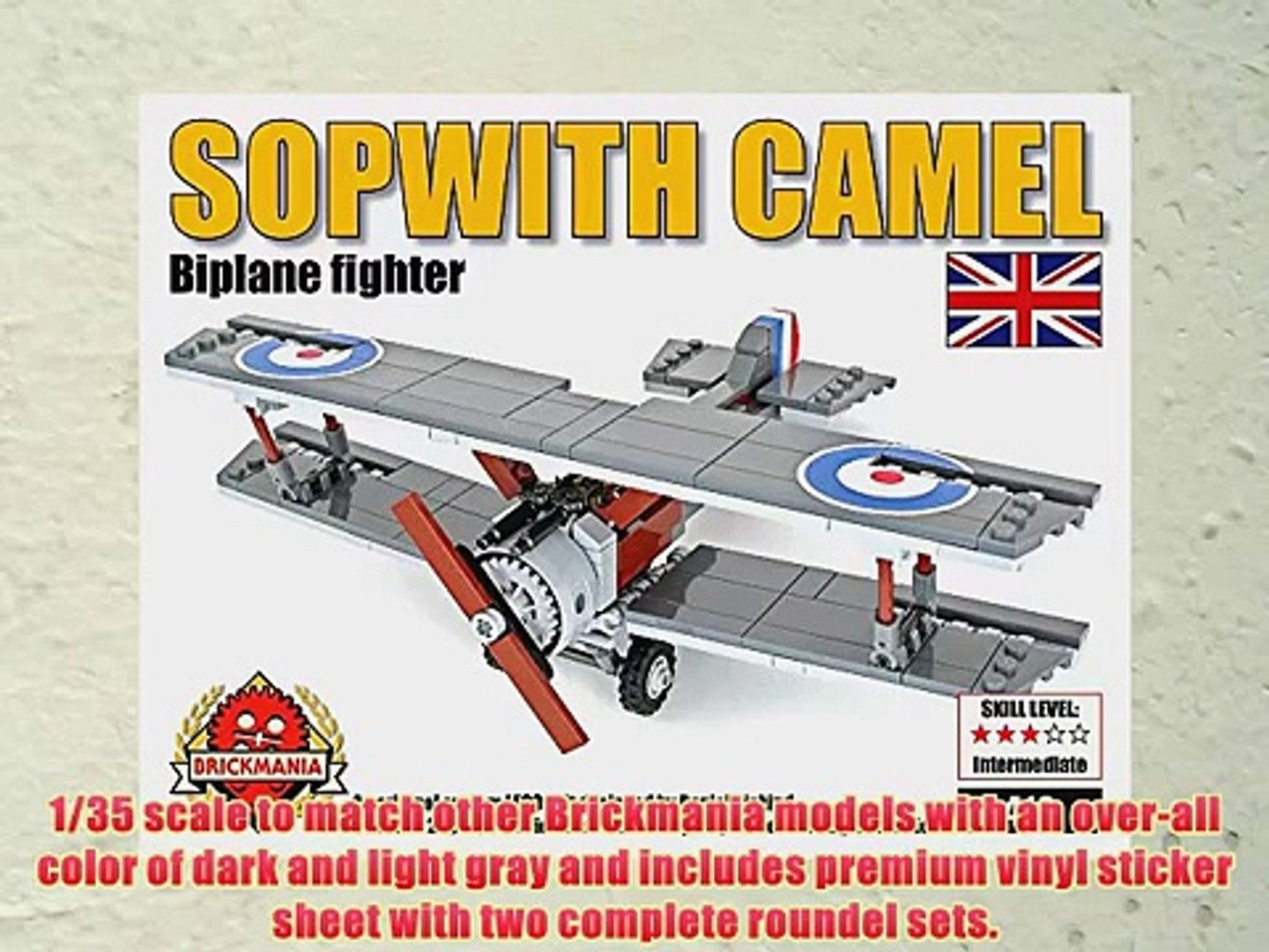 Sopwith Camel WWI Fighter Aircraft custom LEGO® element kit from Brickmania