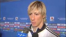 Fernando Torres Interview (In English) after South Africa game ConFeds Cup 2009