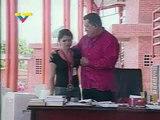 El Presidente Chavez recibe en su Programa a Dalia Contreras