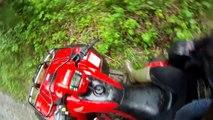 2007 honda foreman 500 & 2009 yamaha grizzly 700 trail ride