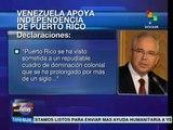 Venezuela apoya independencia de Puerto Rico