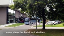 England U21s' Football Team Epic Bus Travel from the hotel to the stadium...