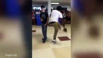 Unlikely hero causes chaos with INSANE dance off routine - Nerdy White Kid Owns Dance-Off (VIDEO)