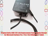 Original Delta 48W 12V 3.6A Replacement Power Supply Charger For Microsoft Surface Pro / Pro