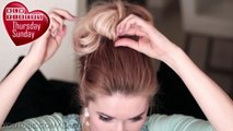 Big messy bun hairstyle tutorial ★ Voluminous braided updo for medium/long hair