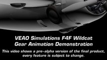 VEAO Simulations Wildcat F4F gear Animation