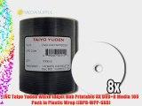 JVC Taiyo Yuden White Inkjet Hub Printable 8X DVD R Media 100 Pack in Plastic Wrap (JDPR-WPP-SK8)
