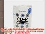 Smartbuy 700mb/80min 52x CD-R White Inkjet Hub Printable Blank Recordable Media Disc (300-Disc)