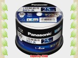PANASONIC Blu-ray BD-R Recordable Disk | 25GB 4x Speed | 50 Spindle Pack Ink-jet Printable